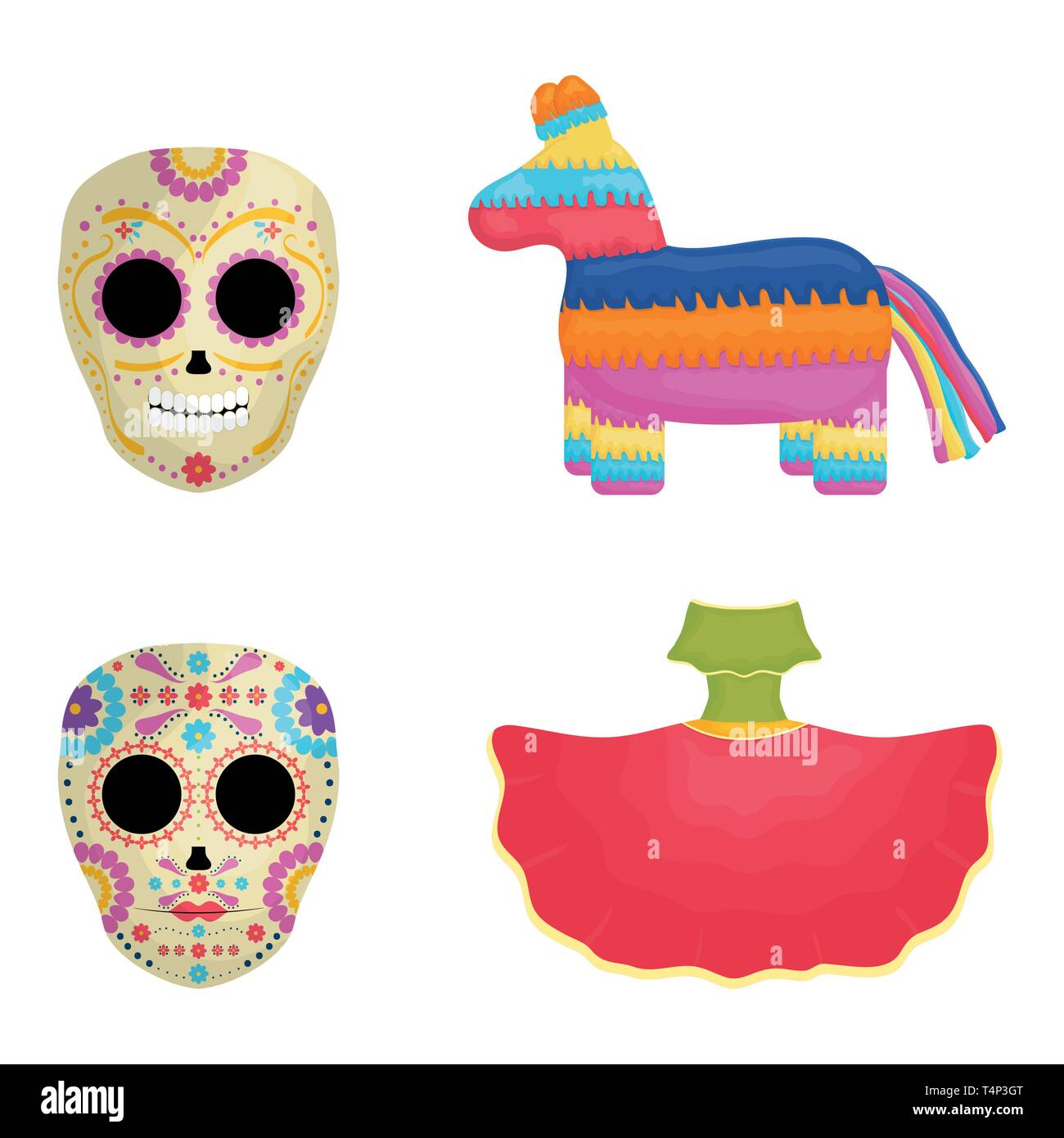 cinco de mayo celebration set icons vector illustration design Stock Vector