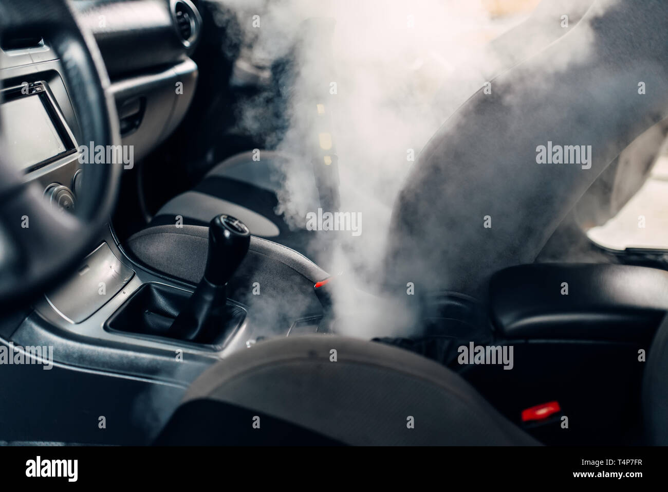 Steam Clean Car Interior >> Professional Dry Cleaning Of Car Interior With Steam Cleaner