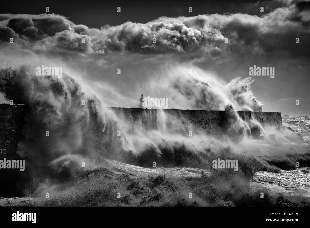 Newhaven under siege Stock Photo