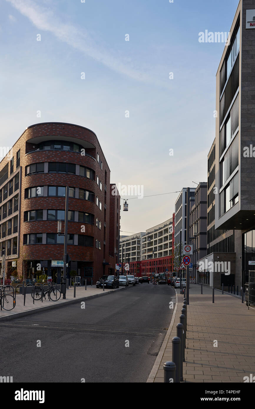 Hafeninsel Offenbach - Stock Image