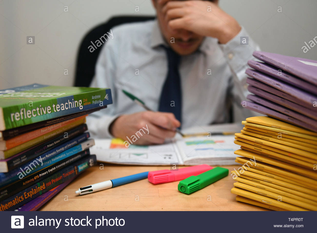 File photo dated 05/03/17 of a teacher at work. Teachers are considering self-harming - and have even quit the profession because of workplace bullying, new research suggests. - Stock Image