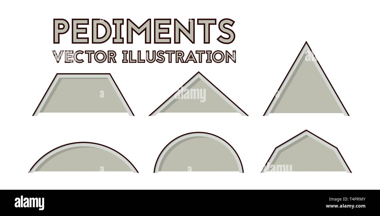 Set of blueprint Gables. Vector illustration. Industry and construction. - Stock Vector