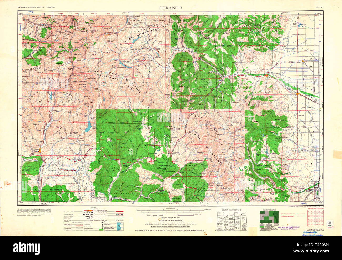 Durango Co Map on