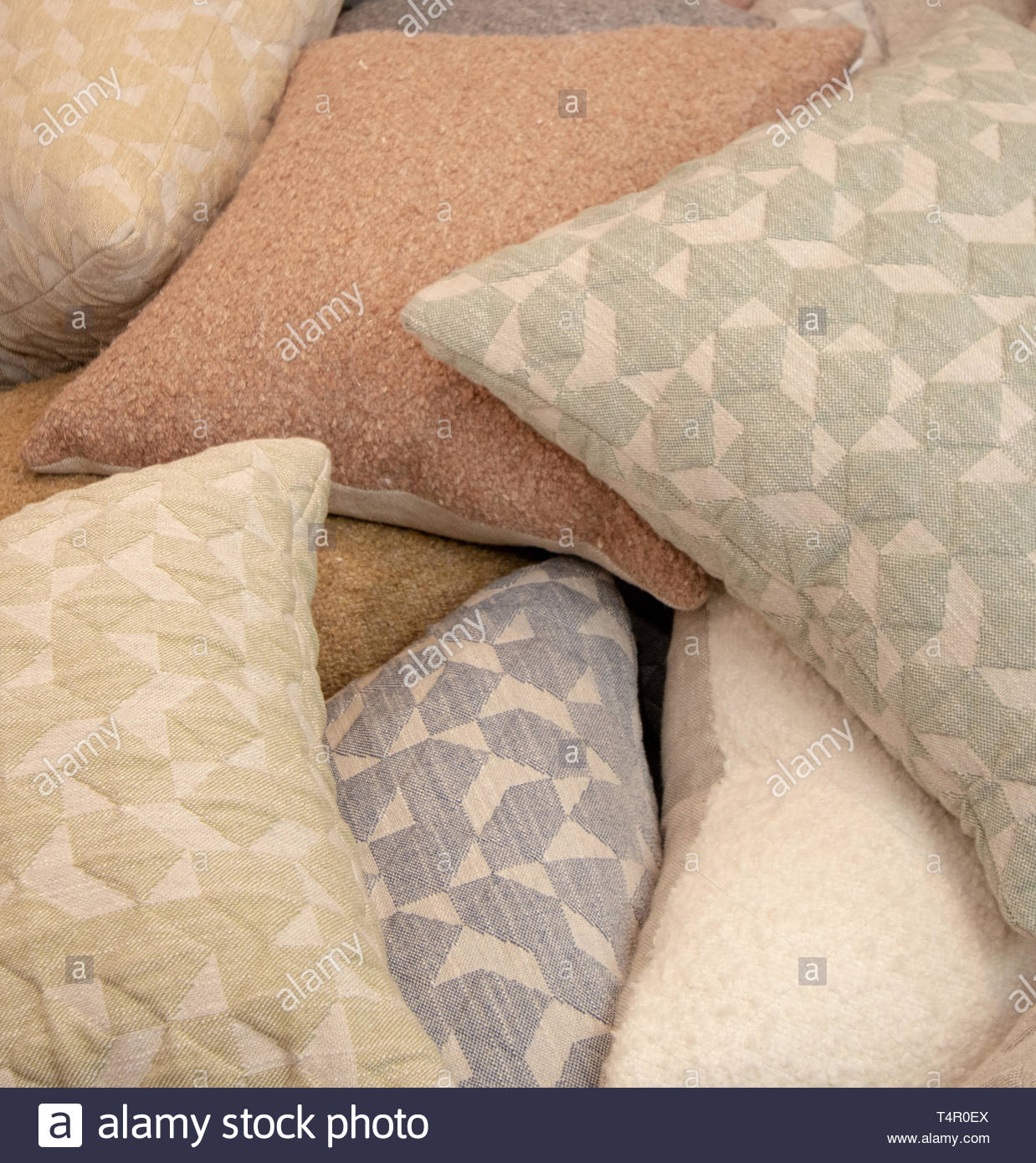 pale pillows overlap - Stock Image