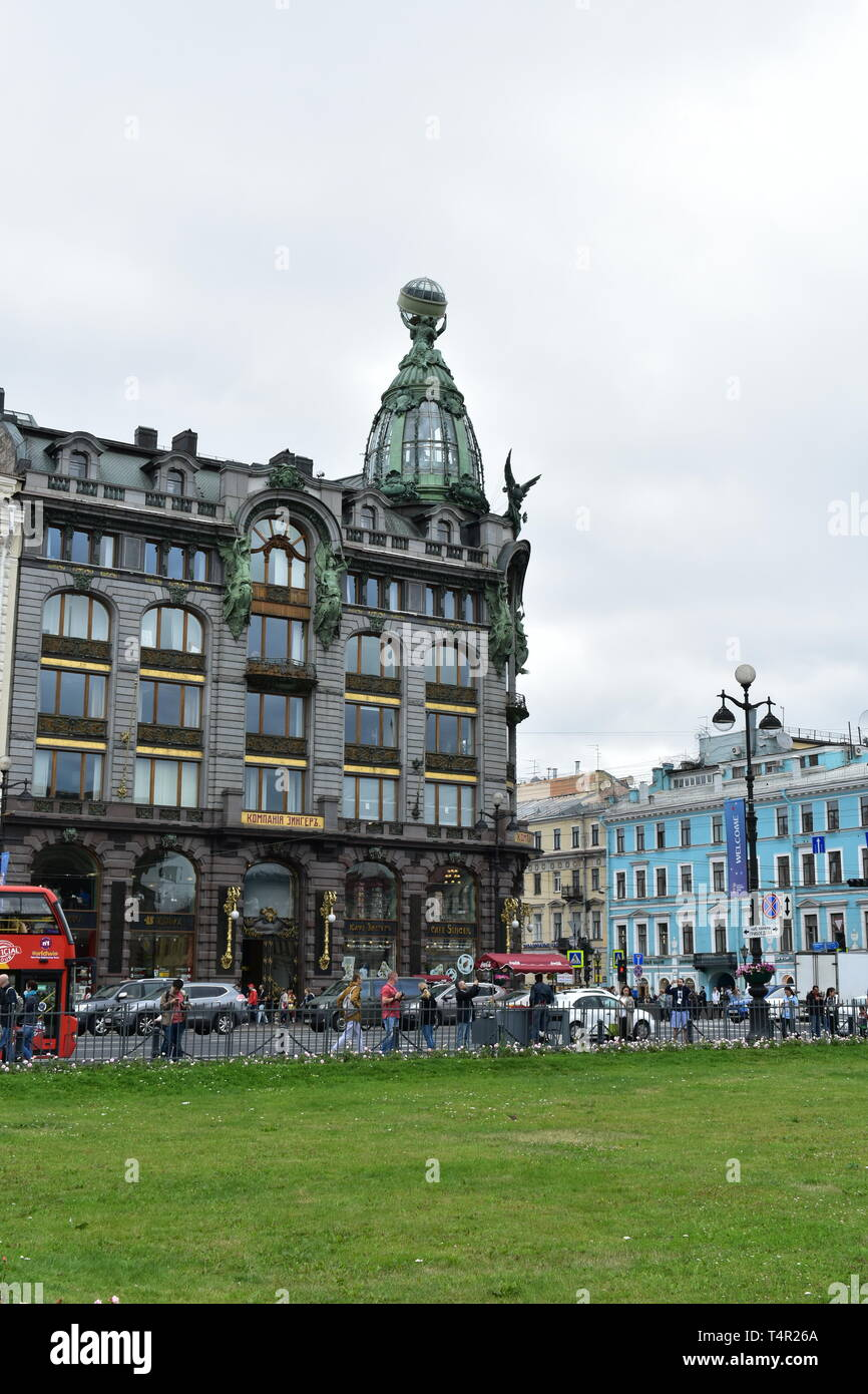Former Zinger House. Nevsky prospect St.Petersburg Russia Stock Photo