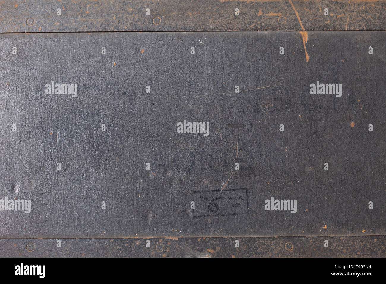 """A German """"Enigma I"""" cipher machine, 1944 army issue, in the original carrying case Appliance number """"A 01891"""", manufactured 20th century, Editorial-Use-Only Stock Photo"""