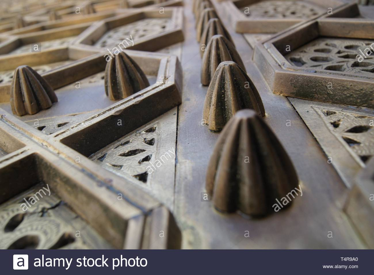 knobs on openwork panels - Stock Image