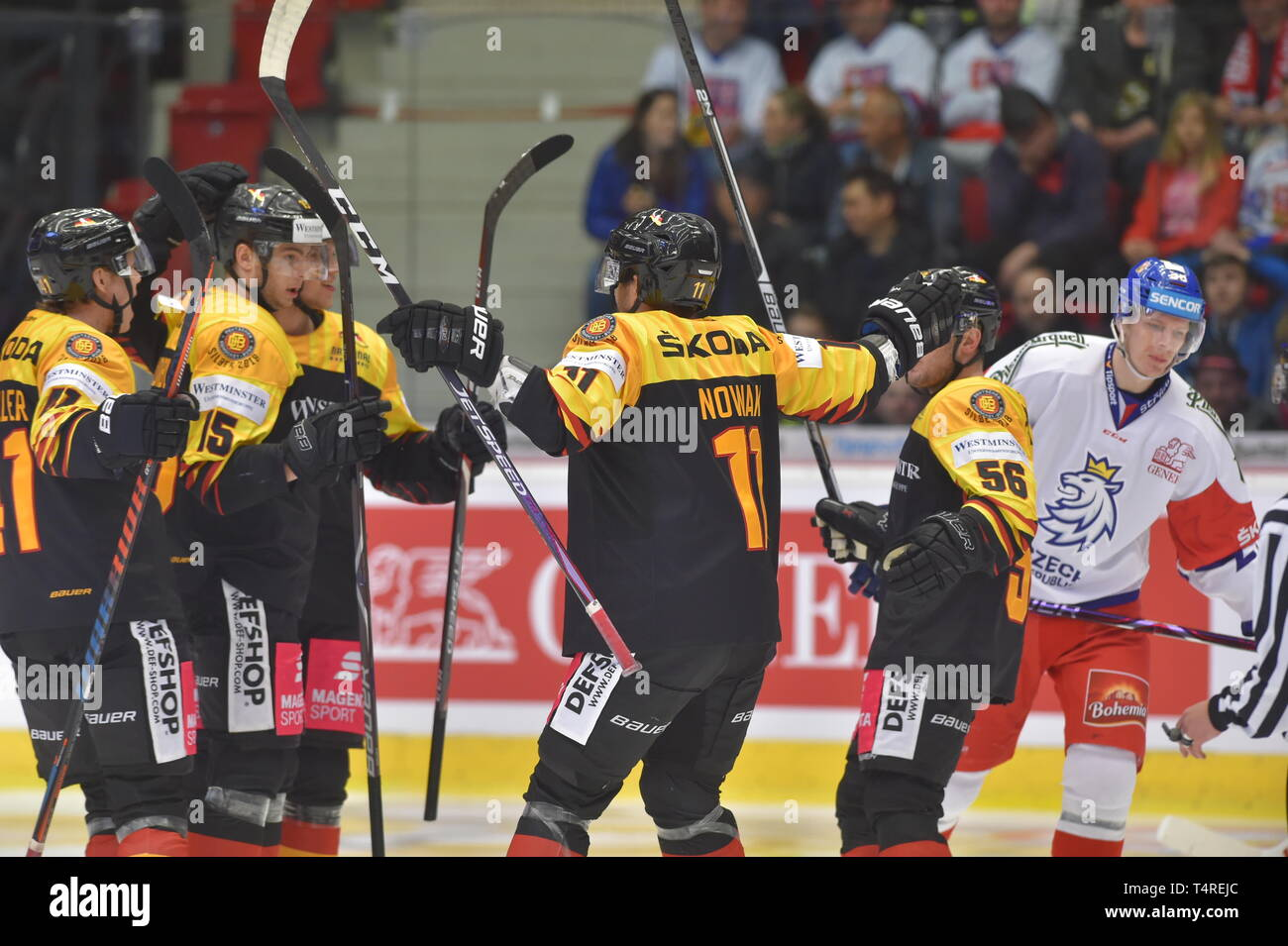 new style f144c aaefc Karlovy Vary, Czech Republic. 18th Apr, 2019. Players of ...