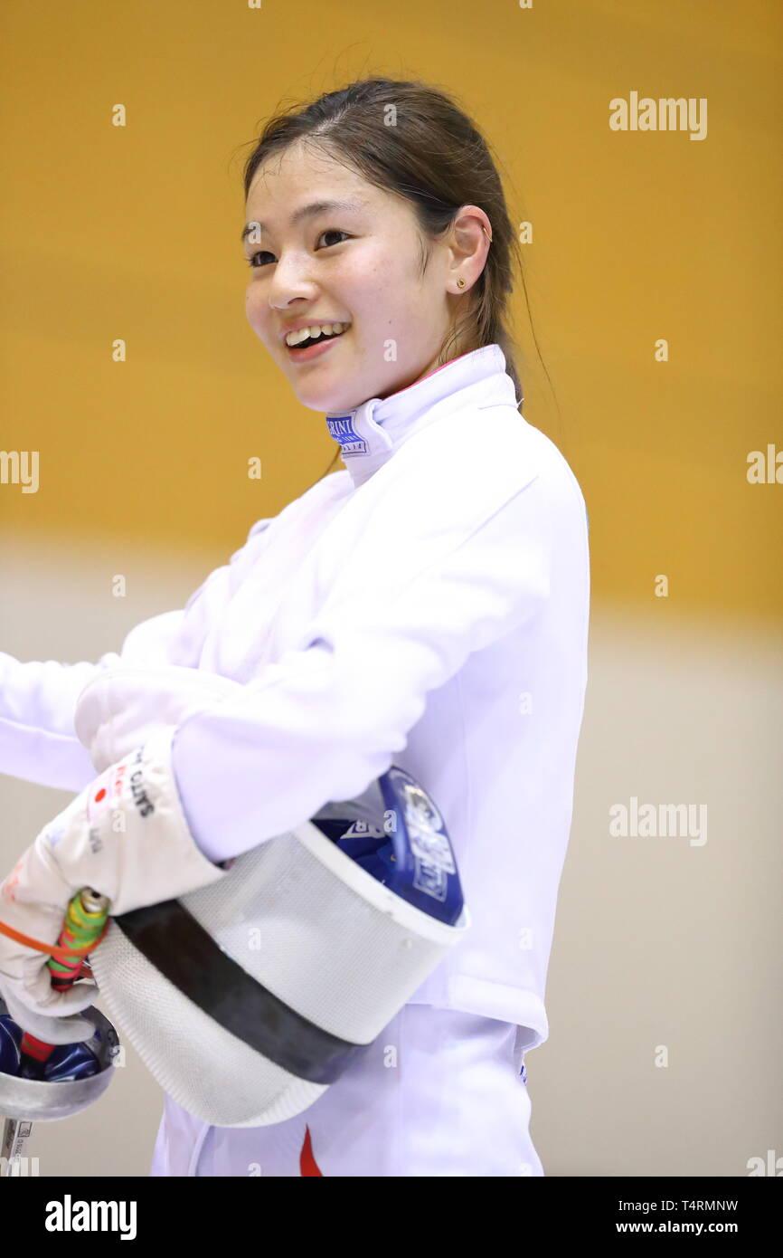 Ajinomoto National Training Center, Tokyo, Japan. 19th Apr, 2019. Ayumu Saito (JPN), APRIL 19, 2019 - Fencing : Japan National Team Training Session at Ajinomoto National Training Center, Tokyo, Japan. Credit: Naoki Nishimura/AFLO SPORT/Alamy Live News Stock Photo