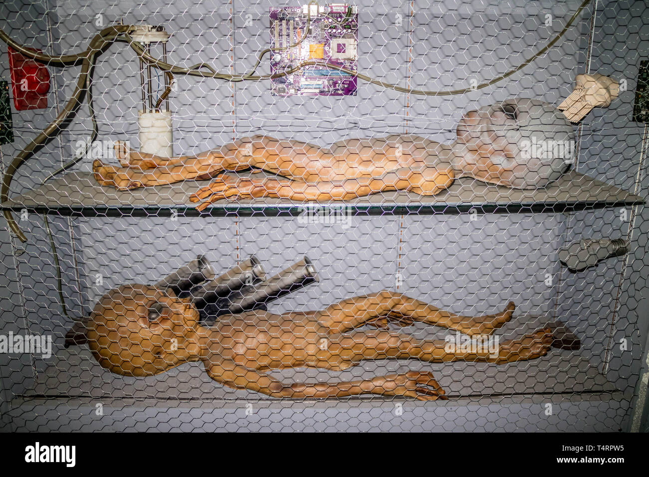 Roswell, NM, USA - April 21, 2018: The famous international collections of UFO model inside the museum - Stock Image