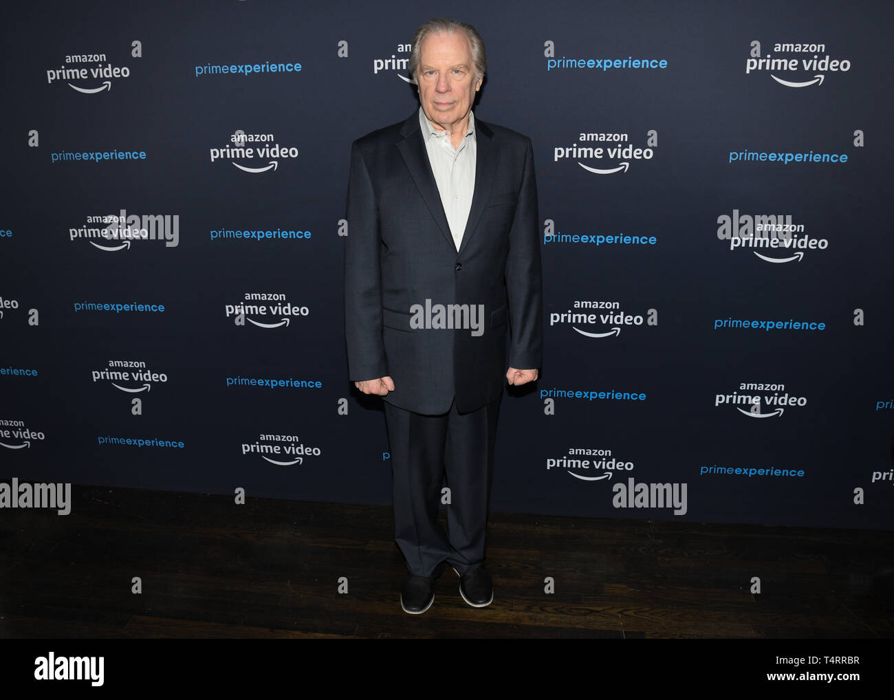 April 17, 2019 - Hollywood, California, USA - Actor MICHAEL MCKEAN attends  at the For Your Consideration Screening of Amazon Studios' 'Good Omens' at The Hollywood Athletic Club in Los Angeles, California. (Credit Image: © Billy Bennight/ZUMA Wire) - Stock Image