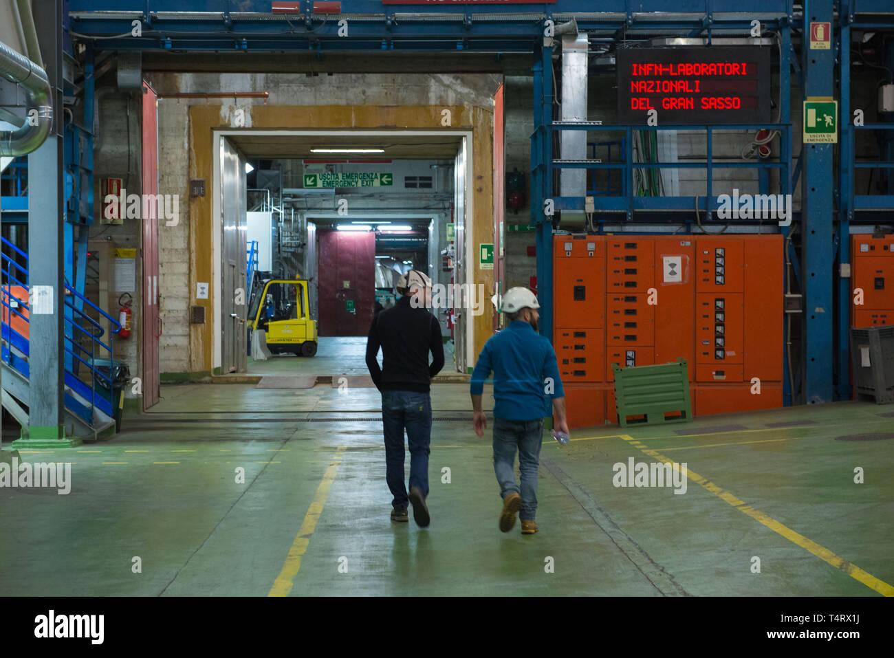 Assergi (l'Aquila), INFN Laboratory for studies of sub-nuclear physics and astrophysics. Stock Photo