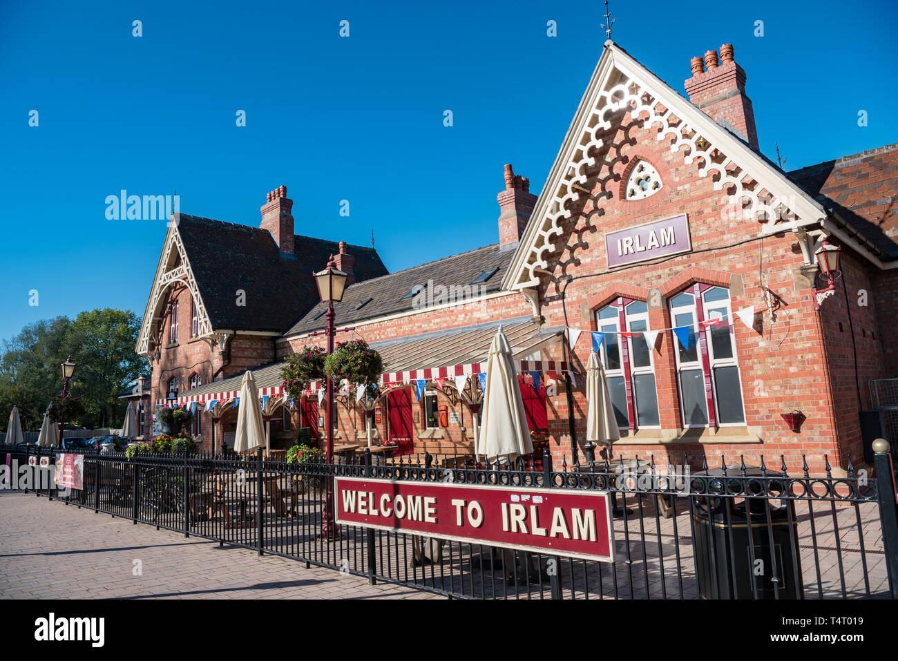 Irlam Railway Station, Irlam, Manchester - Stock Image
