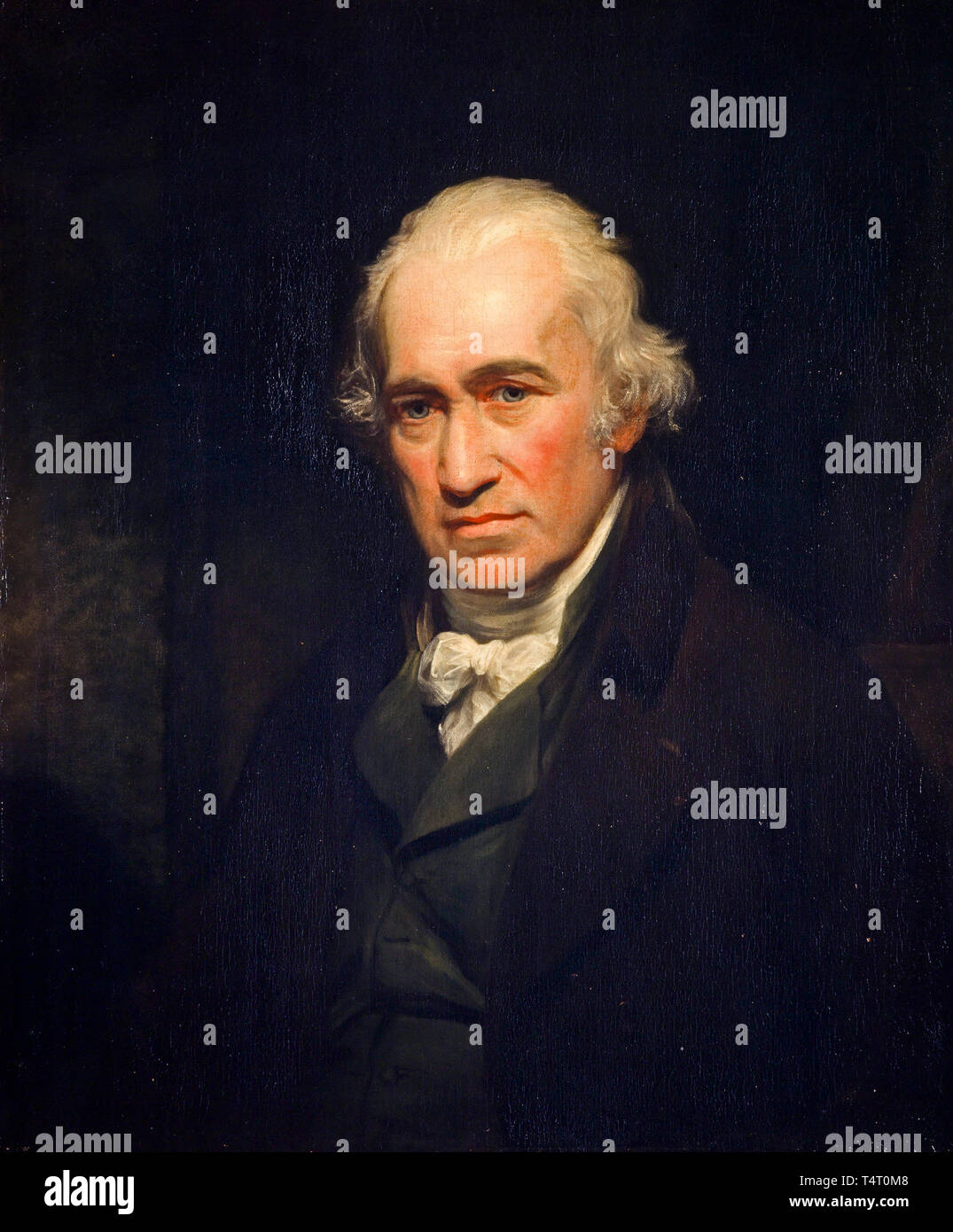 James Watt (1736-1819) portrait of the engineer, inventor of the steam engine by John Partridge, after Sir William Beechey 1806 Stock Photo