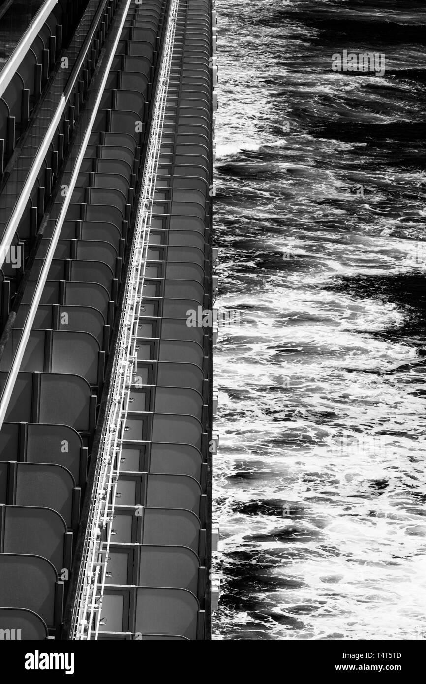 BALCONIES AT SEA - Stock Image