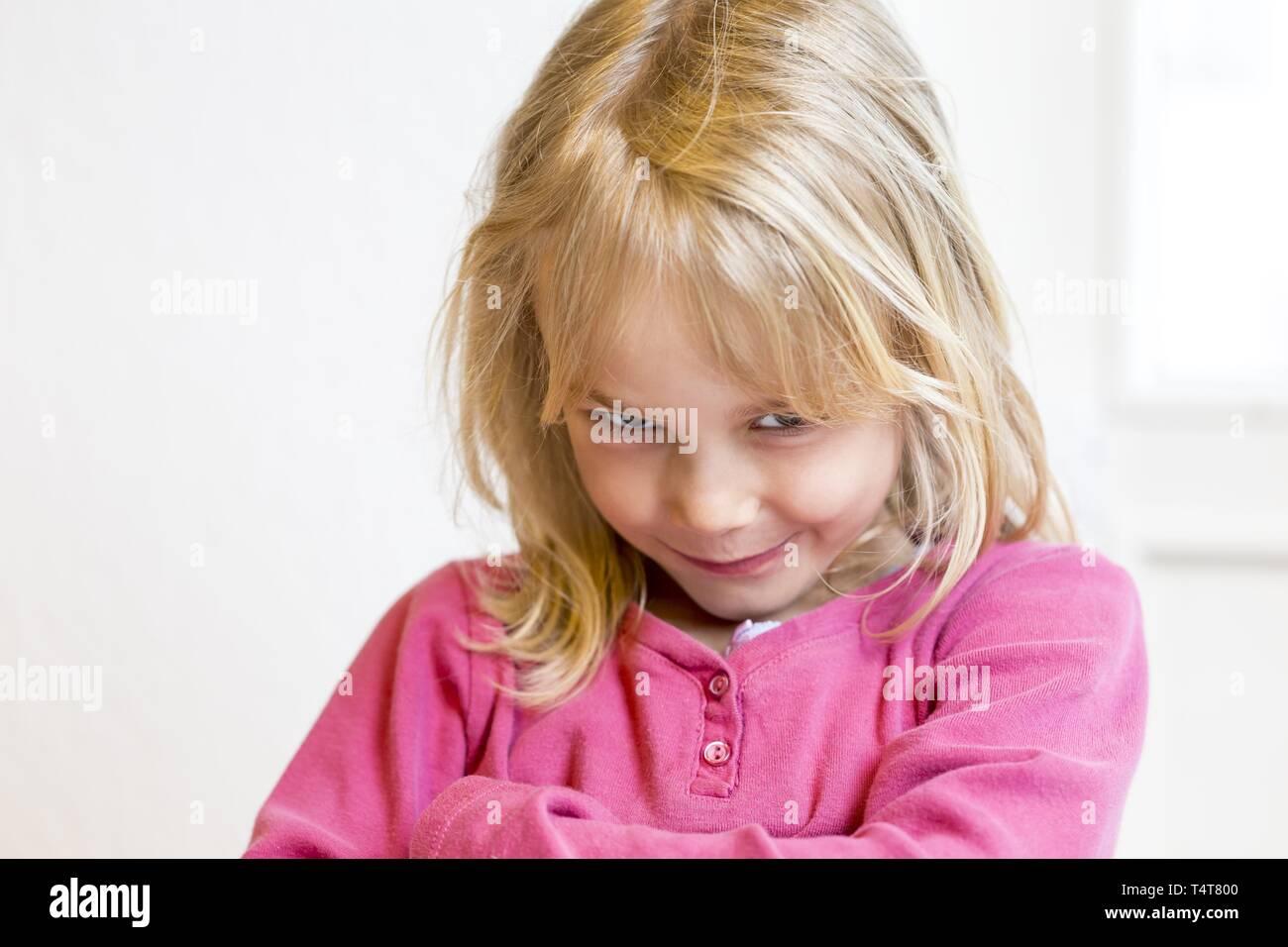 Teasing Girl (6), Kiel, Germany - Stock Image