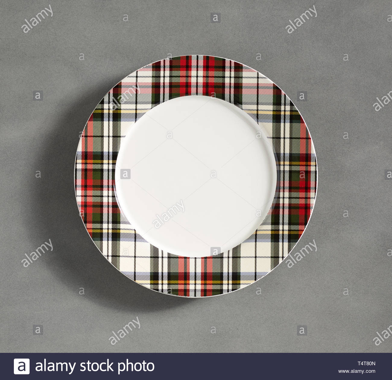 Christmas Shall We Holiday Dessert Plates Designer Plate Round
