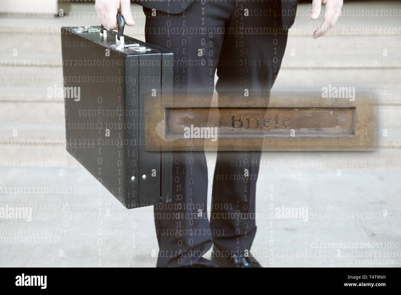 Symbol photo, letterbox company, base company, nominee company, paper company - Stock Image