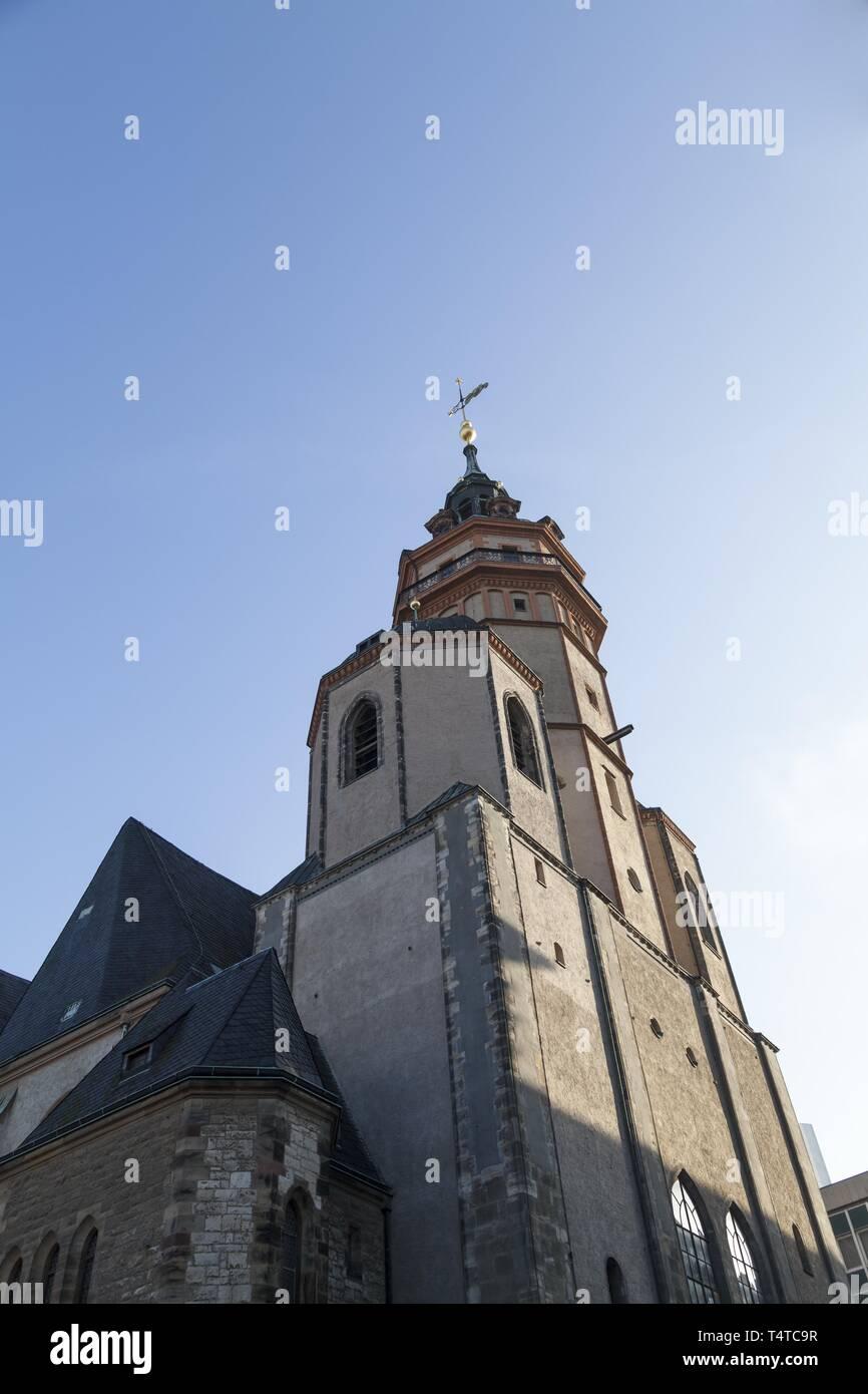 Nikolai Church, Leipzig, Saxony, Germany, Europe, PublicGround, Europe - Stock Image