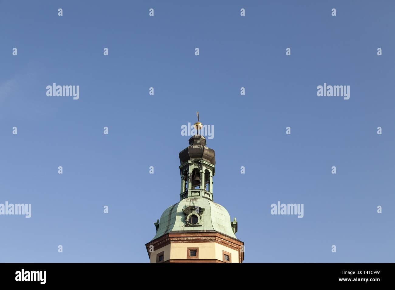 Top of the Nikolai Church, Leipzig, Saxony, Germany, Europe, PublicGround, Europe - Stock Image