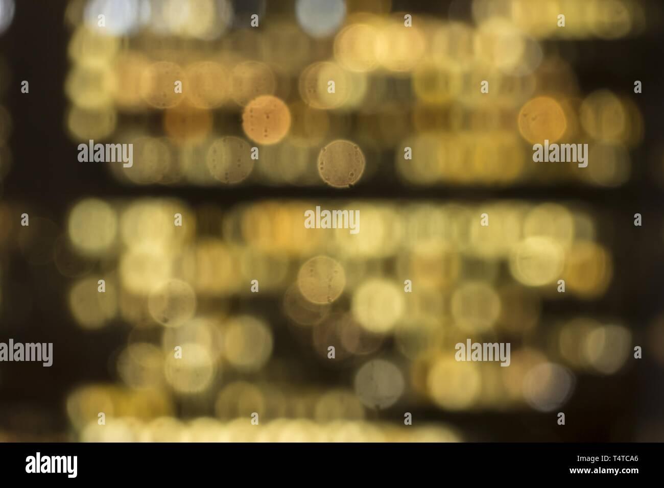 Abstract lights, yellow, bokeh - Stock Image