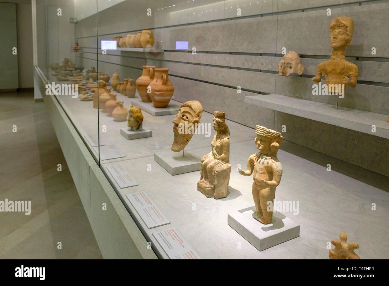 Museo arqueológico de Ibiza y Formentera, Patrimonio de la Humanidad «Ibiza, biodiversidad y cultura», Ibiza, balearic islands, Spain. - Stock Image