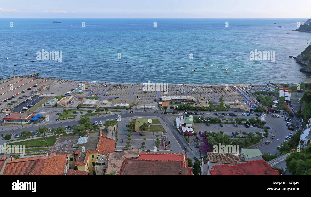 Vietri Sul Mare, Italy - June 27, 2014: Afternoon at Big Sandy Beach Vietri Sul Mare Near Salerno, Italy. Stock Photo