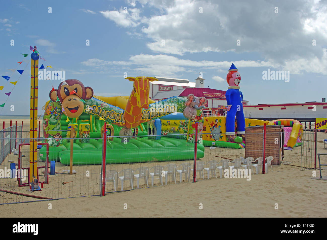 Amusement Baloon Beach, Gt Yarmouth, Norfolk Stock Photo
