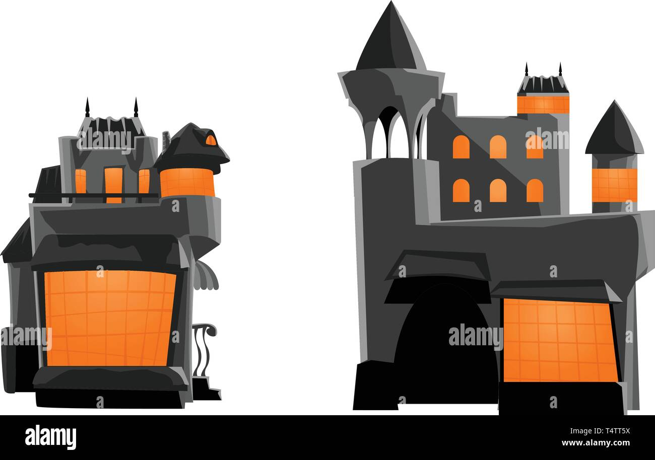 picture of castle grey - Stock Vector