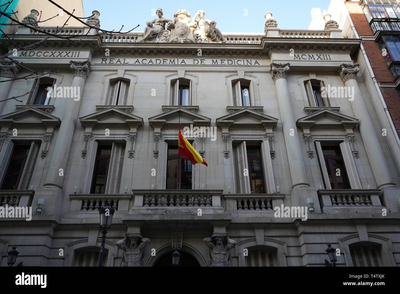 Royal Academy of Medicine, Madrid, Spain Stock Photo