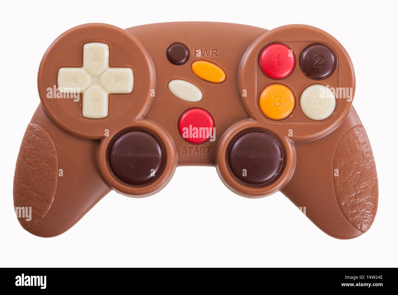 Video game controller made of chocolate - Stock Image