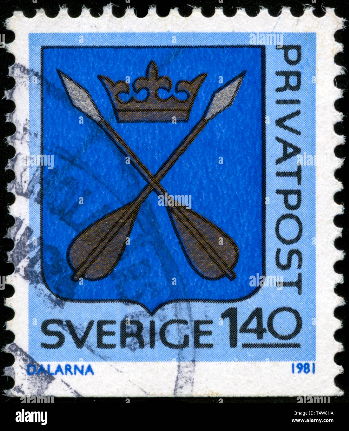 Postage stamp from Sweden in the Discount stamps series issued in 1981 - Stock Image