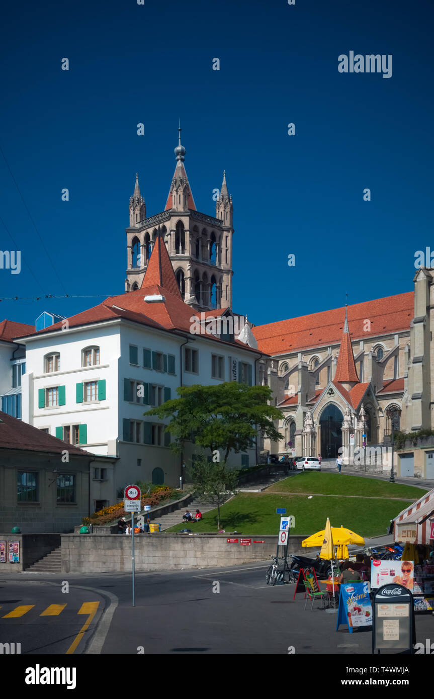 The Cathedral of Lausanne - Stock Image