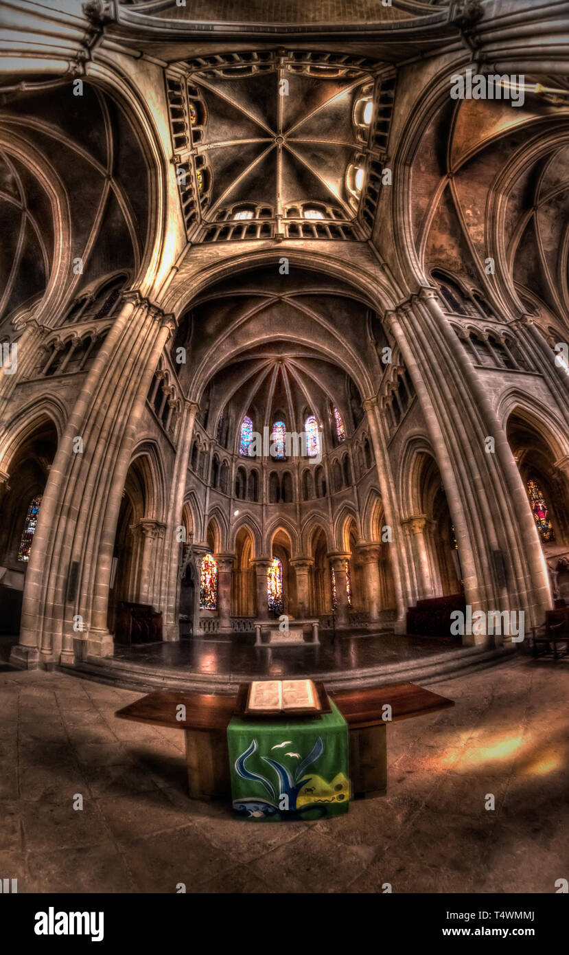 Lausanne Cathedral - Stock Image