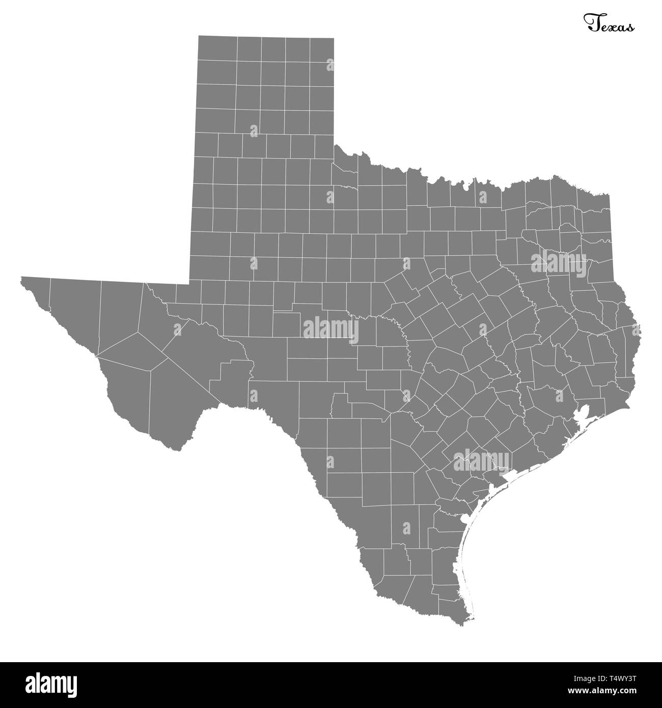 High Quality map of Texas is a state of United States with ...
