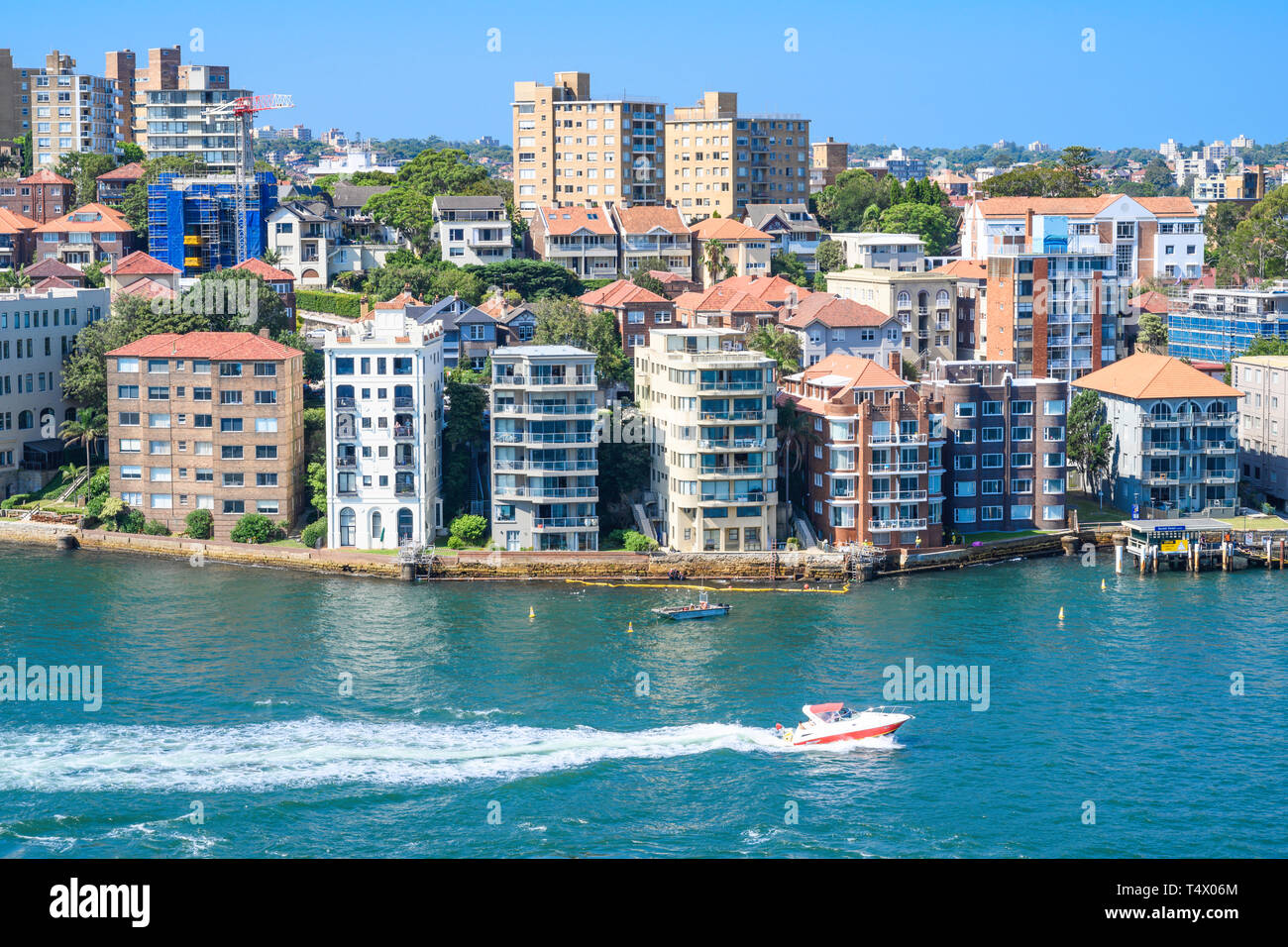 Kirribilli is a suburb of Sydney, Australia, located on the Lower North Shore of Sydney Harbour. - Stock Image