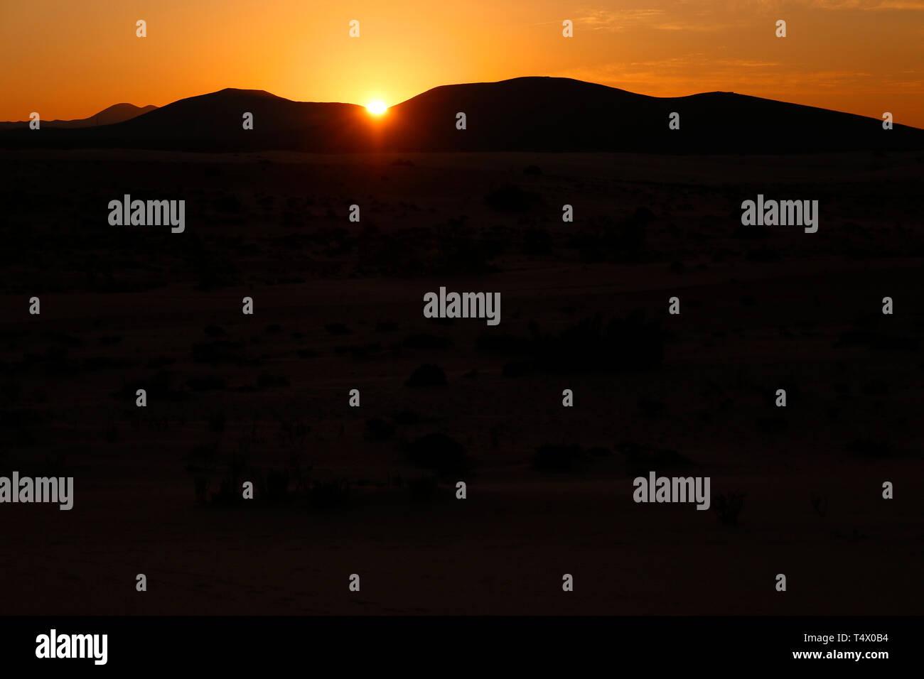 Impressionen: Sandduenen von Corralejo, Fuerteventura, Kanarische Inseln, Spanien/ sand dunes of Corralejo,Fuerteventura, Canary Islands, Spain  (nur  - Stock Image