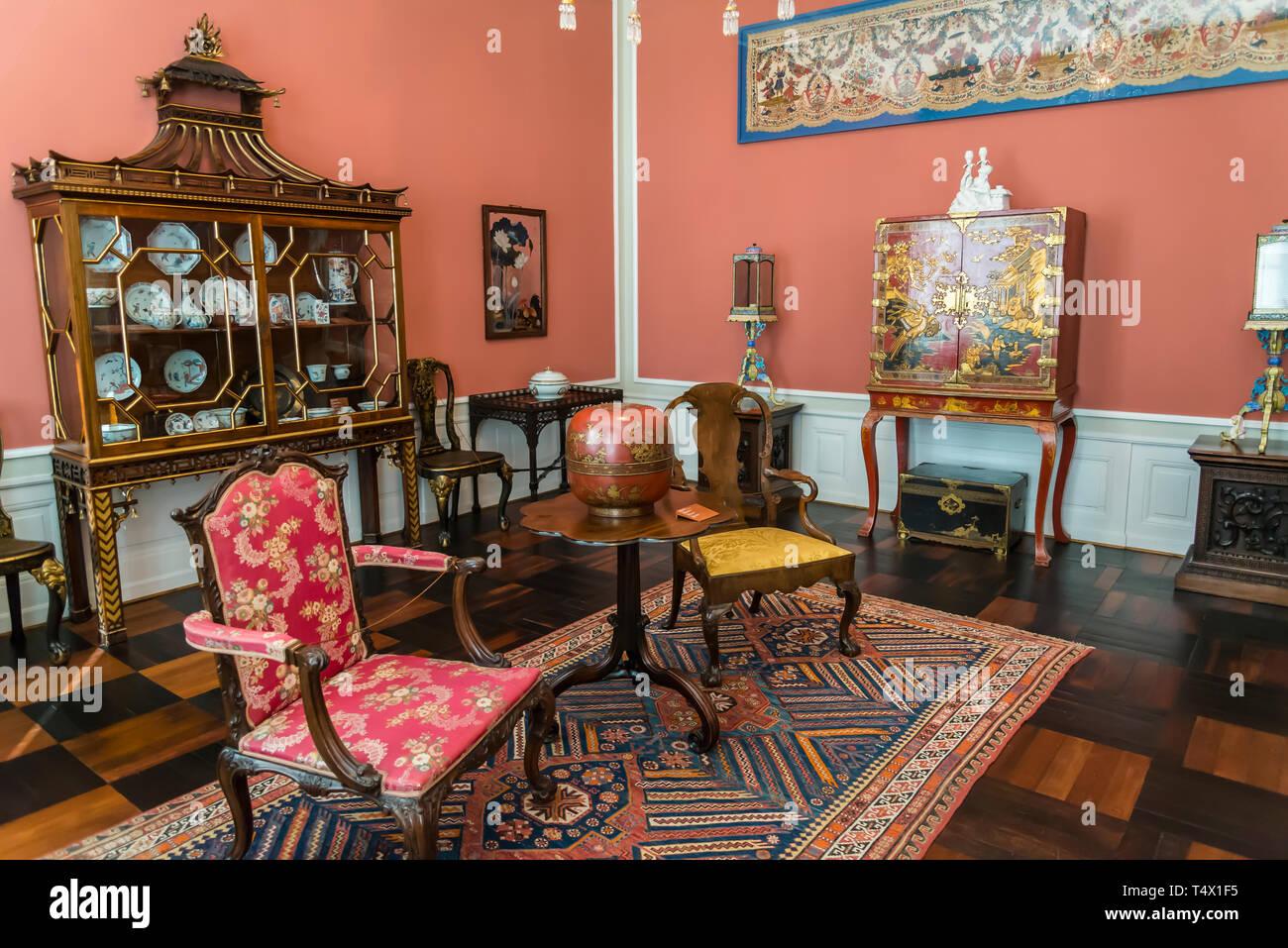 The David Collection A Museum Of Fine And Applied Art 19th Century Posh Interior Copenhagen Denmark Stock Photo Alamy