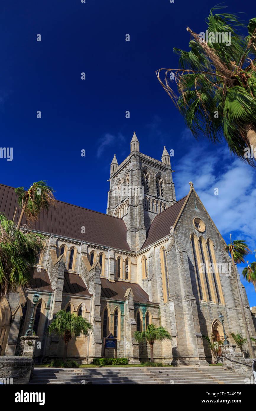 Bermuda, Hamilton, British Colonial Architecture, Church of the Most Holy Trinity - Stock Image