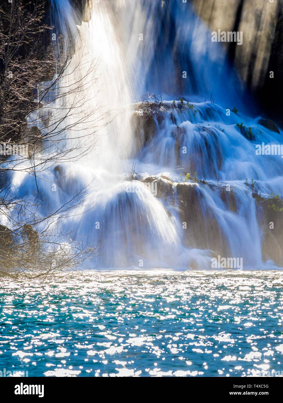 Plitvice lakes in Croatia Plitvicka jezera - Stock Image