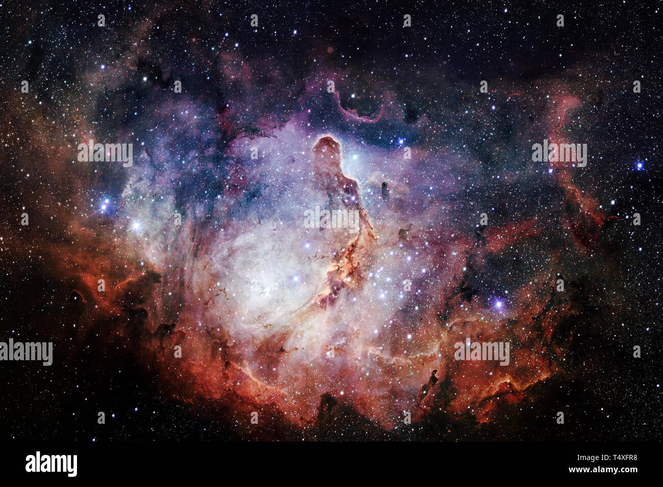 Beauty of outer space. Science fiction wallpaper. Elements of this image furnished by NASA - Stock Image