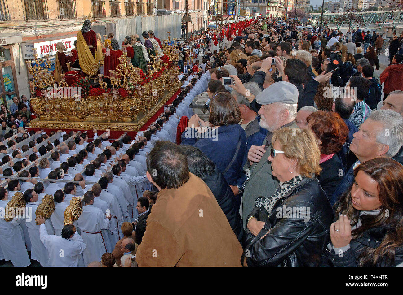 Holy Week. Brotherhood of The Last Supper. Malaga. Costa del Sol. Region of Andalusia. Spain. Europe - Stock Image