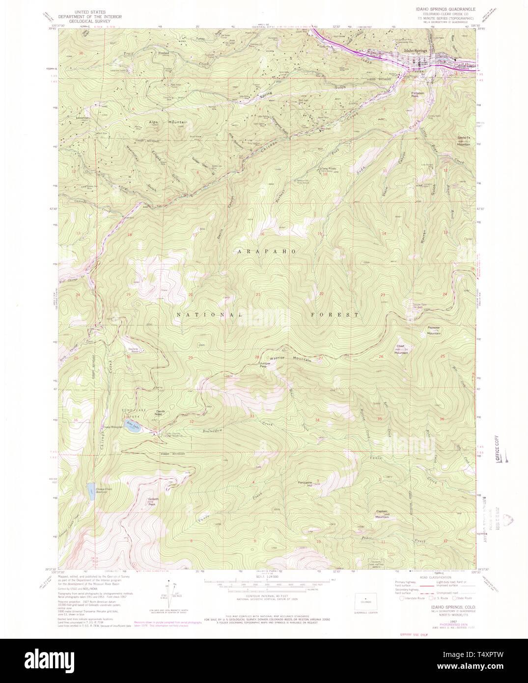 USGS TOPO Map Colorado CO Idaho Springs 450675 1957 24000 ... Usgs Topo Map on mi dnr topo lake maps, 7.5 minute topo maps, arizona topo maps, 2011 us topo maps, gis survey maps, national geographic topo maps, esri topo maps, usda topo maps, nrcs topo maps, eastern sierra topo maps, mining maps, ca topo maps, mexico topo maps, aerial maps, railroad maps, gis topo maps, washington topo maps, topographic maps, 1 24000 topo maps, google maps,