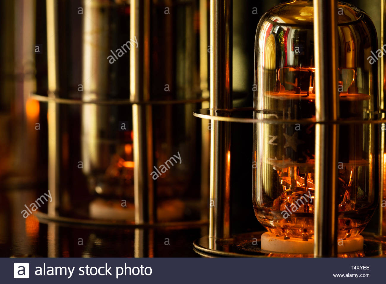 glass-enclosed components - Stock Image