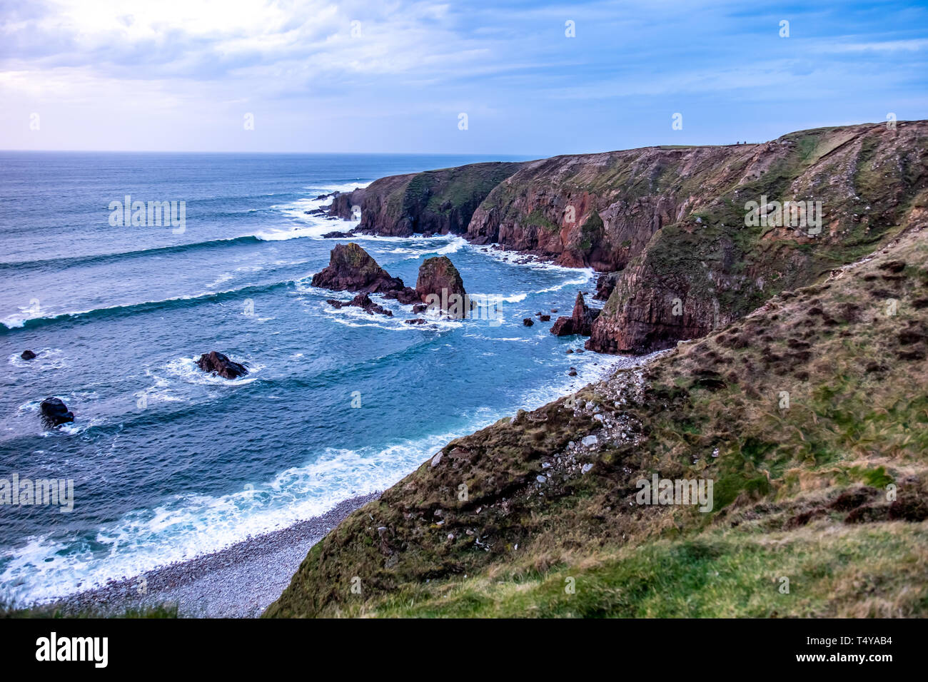 Bloody Foreland coastline in the Gaeltacht area of Donegal. Wild Atlantic Way - Ireland. - Stock Image