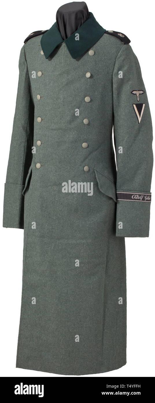 8cb8d3a5478 A coat M 36 for a Sturmmann of the Leibstandarte. Of green felt, dark