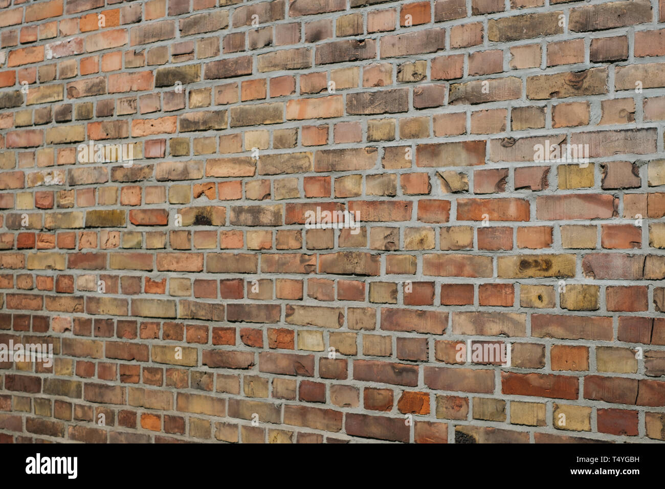 Brick wall background brick stones perspective stock image