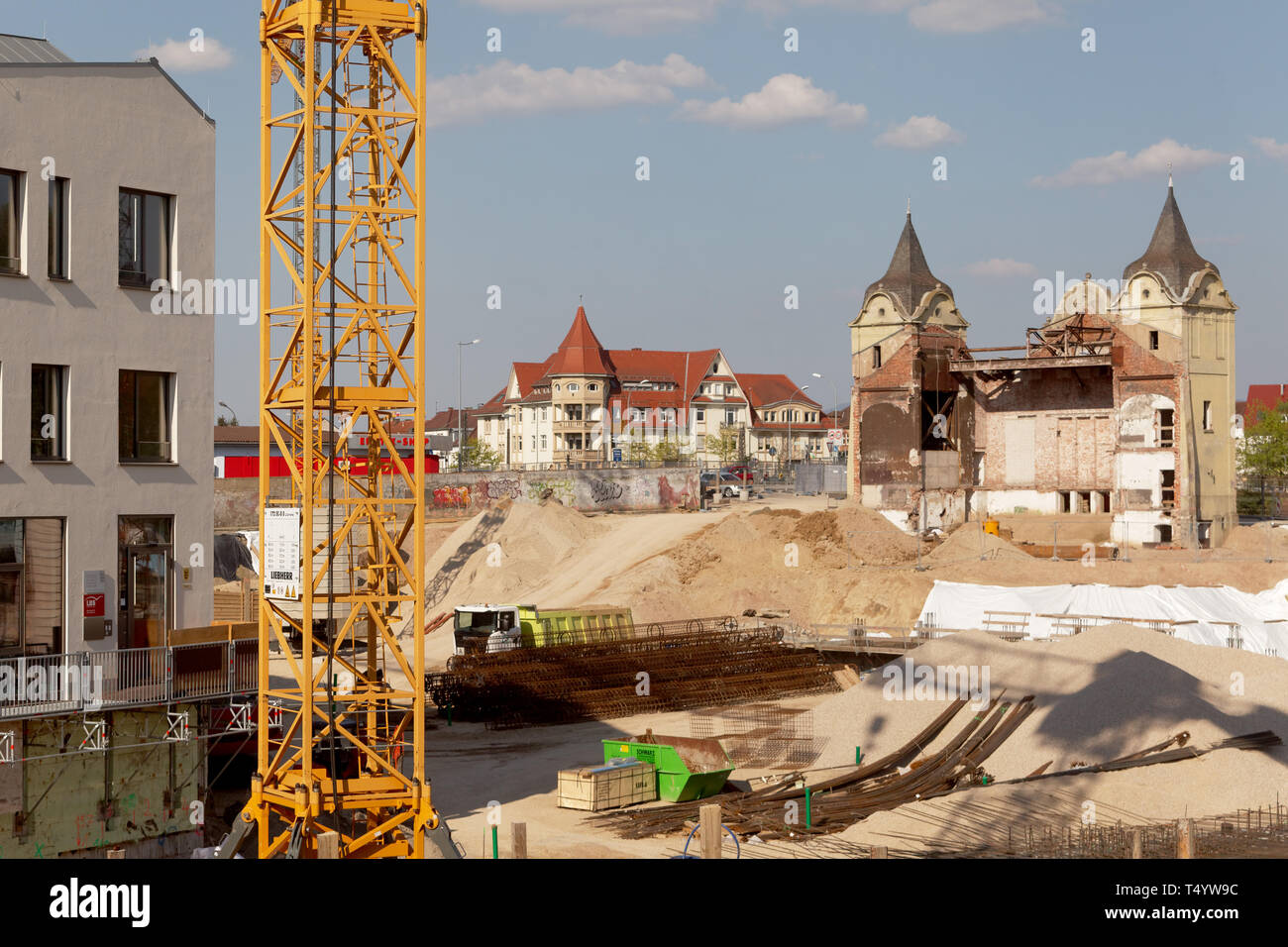 Offenburg, Ree Carre, building site, Germany Stock Photo