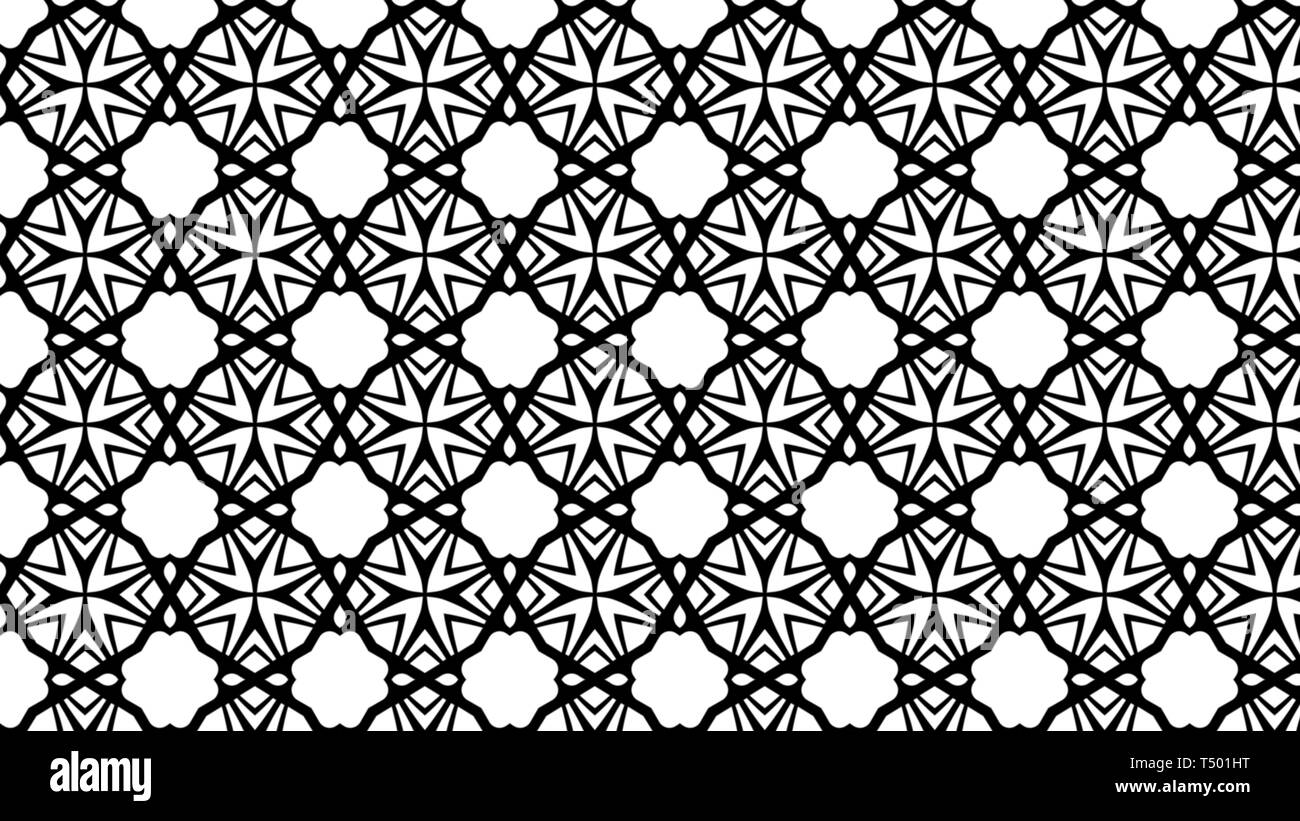 Black And White Geometric Pattern Wallpaper Image Stock