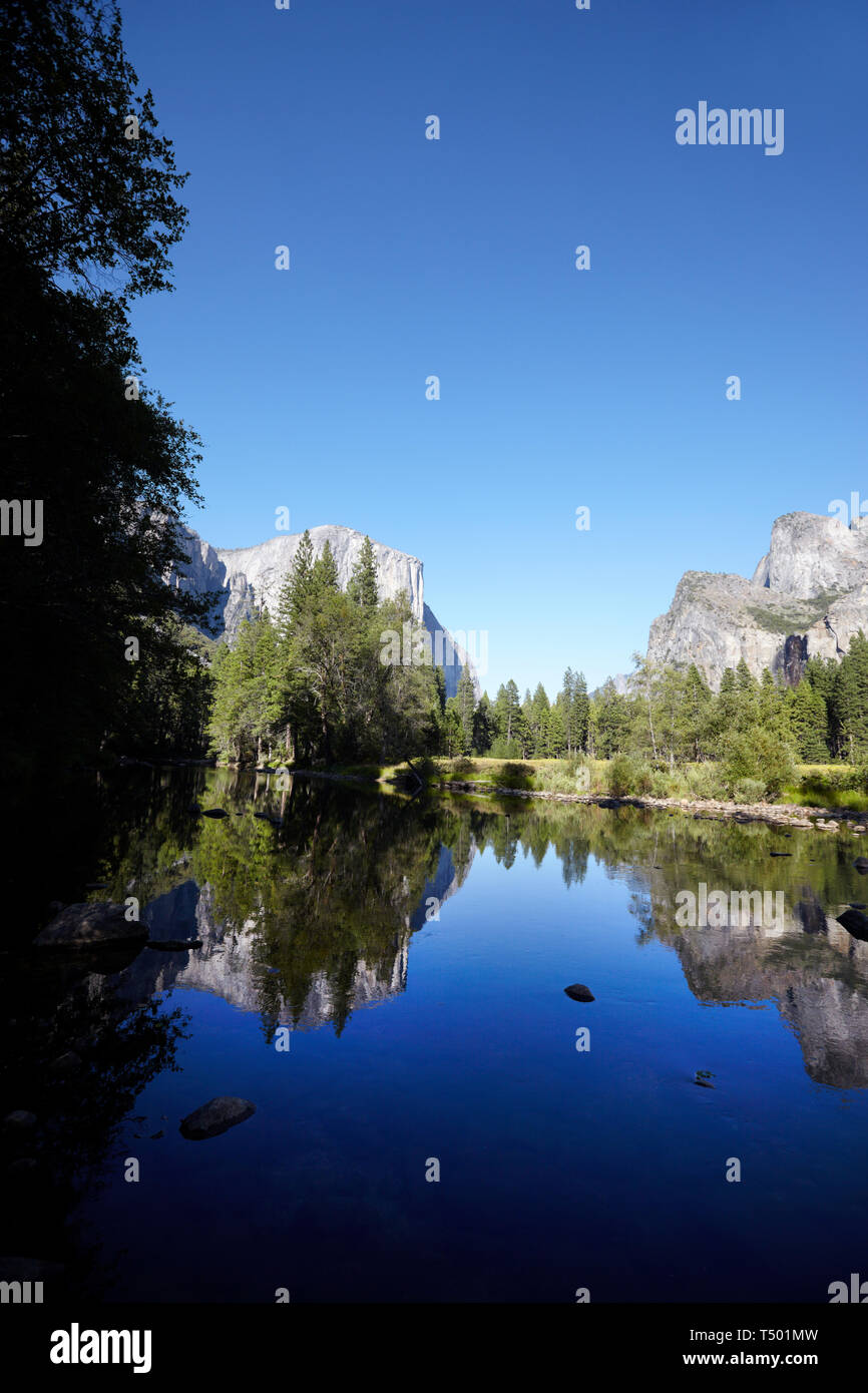 Merced River, Yosemite, California, America. Stock Photo